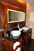 Işıklı banyo iç lüks villada tenerife isla — Stok fotoğraf
