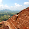 The view from Sigiriya (Lion's rock) is an ancient rock fortress — Stock Photo #12270893