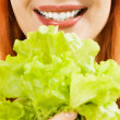 Woman with Salad — Stock Photo #11463927