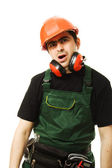 The builder was tired — Stock Photo
