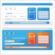 Interface white and blue — Vector de stock #11913367