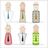 The figures of men: the businessman — Stock Vector
