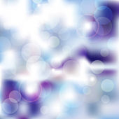 Blauwe bokeh winter — Stockvector