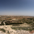 Judea landscape on West bank territories  under Israeli control — Stock Photo