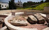 在犹太公墓的犹太希伯伦季老洞穴 — 图库照片