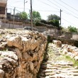 Stock Photo: Excavations in Hebron city divided between jews and arabs