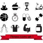 Fitness icon 1 — Stock Vector