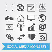 Sosyal medya icons — Stok Vektör