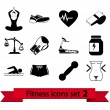 Fitness pictogram 2 — Stockvector