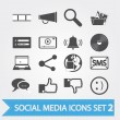Social media icons set 2 — Stock Vector