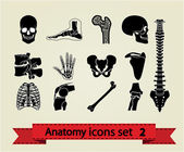 Anatomy icons set 2 — Stok Vektör
