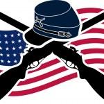 American Civil War. Union — Stock Vector