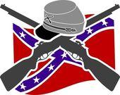 American Civil War. Confederacy — Stock Vector