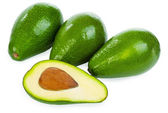 Avocados isolated on a white background — Stock Photo
