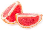 Slices of grapefruit isolated on white background — Stock Photo