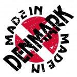 Vector label Made in Denmark — Stock Vector #10855315
