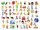 Cartoon characters — Stock Vector