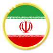 Vector button with flag Iran — Stock Vector #11234005