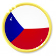 Vector  button with flag Czech — Stock vektor