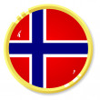 Vector button with flag Norway — Stock Vector