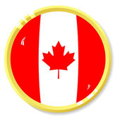 Vector button with flag Canada — Stock Vector