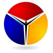логотип с изображением. eps10 — Cтоковый вектор