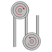 Illustration pulley — Vector de stock