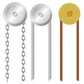 Jeu de construction avec des cordes et des chaînes — Vecteur