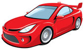 Red sports car — Stock Vector
