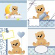 Cute templates for baby card — Stock Vector #12039739