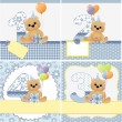 Cute templates for baby card — Stock Vector #12039743