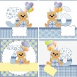 Royalty-Free Stock Vector Image: Cute templates for baby card