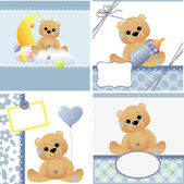 Cute templates for baby card — Stock Vector