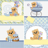 Cute templates for baby card — ストックベクタ