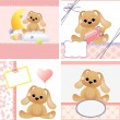 Cute templates for baby card — Stock Vector #12067006
