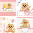 Stock Vector: Cute templates for baby card