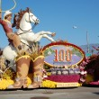 Rose Parade Pasadena oklahoma cowboy float — Stock Photo