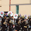Rose Parade Pasadena marching band — Stock Photo