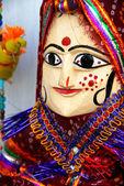 Puppet woman handicraft — Stock Photo