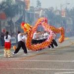 PASADENA, CA-USA - FEBRUARY 18: Toy Dragons at Chinese Lunar New Year Parade on February 18 2007 in Pasadena California — Stock Photo #11615482