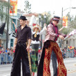 PASADENA, CA-USA - FEBRUARY 18: stilts clowns entertaining the crowd at Chinese Lunar New Year Parade on February 18 2007 in Pasadena California — Stock Photo #11615491