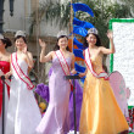 PASADENA, CA-USA - FEBRUARY 18: Miss Taiwan USA Contestants at Chinese Lunar New Year Parade on February 18 2007 in Pasadena California — Stock Photo