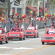 PASADENA, CA-USA - FEBRUARY 18: Apple Valley Shrine Club Little Red Car Truck Drivers at Chinese Lunar New Year Parade on February 18 2007 in Pasadena California — Stock Photo #11615517