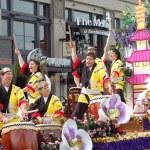 PASADENA, CA-USA - FEBRUARY 18: Kodama Taiko of Pasadena music performers on float at Chinese Lunar New Year Parade on February 18 2007 in Pasadena California — Stock Photo #11615541