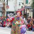 PASADENA, CA-USA - FEBRUARY 18: clown making giant soap bubble at Chinese Lunar New Year Parade on February 18 2007 in Pasadena California — Stock Photo #11615552