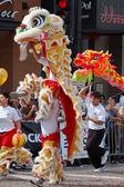 PASADENA, CA-USA - FEBRUARY 18: Toy Dragons at Chinese Lunar New Year Parade on February 18 2007 in Pasadena California — Stock Photo