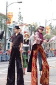 PASADENA, CA-USA - FEBRUARY 18: stilts clowns entertaining the crowd at Chinese Lunar New Year Parade on February 18 2007 in Pasadena California — Stock Photo
