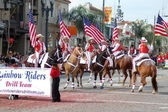 PASADENA, CA-USA - FEBRUARY 18: Rainbow Horse Riders Drill Team at Chinese Lunar New Year Parade on February 18 2007 in Pasadena California — Stock Photo