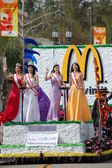 PASADENA, CA-USA - FEBRUARY 18: Miss Taiwan USA Contestants at Chinese Lunar New Year Parade on February 18 2007 in Pasadena California — Stock Photo