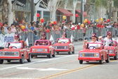 PASADENA, CA-USA - FEBRUARY 18: Apple Valley Shrine Club Little Red Car Truck Drivers at Chinese Lunar New Year Parade on February 18 2007 in Pasadena California — Stock Photo